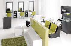 Pop of colour. Nail Salon And Spa, Nail Salon Decor, Beauty Salon Decor, Beauty Salon Design, Beauty Salon Interior, Hair And Beauty Salon, Beauty Studio, Schönheitssalon Design, Small Salon