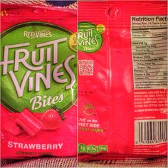 Fruit Vines are a new, soft, chewy fruit candy, from the Red Vines family, available in two fruit flavors -strawberry and cherry. Low fat and made with no preservatives, Fruit Vines are available in three sizes: a 2 Oz single serving size, a 5 Oz hanging bag and a 10 Oz resealable stand up bag and can be found at Walmart in the West, Kroger, Walgreen's, Target, Safeway and Rite Aid. $1.28 - $1.79 *Personal Review to be posted soon...* @influenster