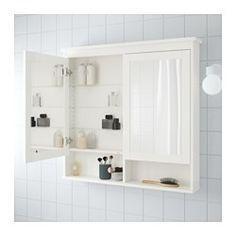 "HEMNES Mirror cabinet with 2 doors, white - white - 40 1/2x6 1/4x38 5/8 "" - IKEA"