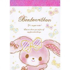 Sanrio Bonbon Ribbon Mini Memo Pad (◕ᴥ◕) Kawaii Panda - Making Life Cuter Printed Pages, Sanrio, Panda, Decoupage, Stationery, Bunny, Kawaii, Scrapbook, Mini