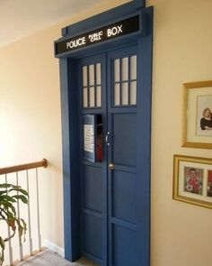 Doctor Who Tardis door My New Room, My Room, Die Tardis, Doctor Who Tardis, Diy Doctor, Eleventh Doctor, Tall Cabinet Storage, Locker Storage, Home Theatre