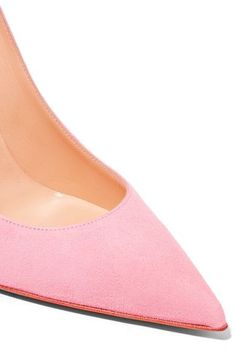Christian Louboutin - Decoltish 100 Suede Pumps - Pastel pink - IT39.5