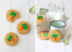 Charming carrot cookies from La Receta de Felicidad ^__^ Galletas de Zanahoria