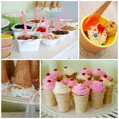 sundae bar for new years eve! Fun for adults and kids!