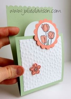 Julie's Stamping Spot -- Stampin' Up! Project Ideas Posted Daily: Spring Tulips Flap Fold Card