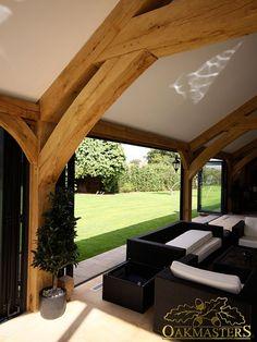 Glazed oak pool house in Sussex - Oakmasters