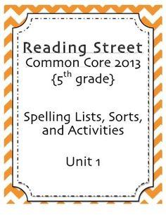 5th grade reading street unit 1 week 1 red kayak vocabulary spelling pack unit 1 5th grade reading street fandeluxe Images