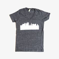 Connecticut T-Shirt | Graphic V-Neck Tee for Men or Women | Hartford Skyline | Love Hartford products by Hartford Prints! #fashion #goods #urban