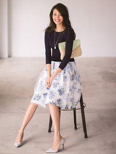 JUSGLITTY(ジャスグリッティー) | ファッション通販【ファッションウォーカー】 : スカート > フラワープリントチュールスカート