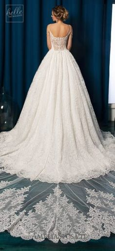 Amelia Sposa Wedding Dresses 2019 - Belle The Magazine A Line Bridal Gowns, Lace Ball Gowns, Bridal Dresses, Bridesmaid Dresses, Amelia Sposa Wedding Dress, Princess Wedding Dresses, Dream Wedding Dresses, Classic Wedding Gowns, Wedding Dress Gallery