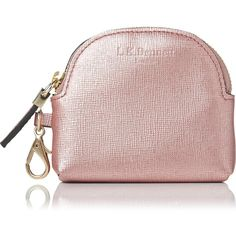 L.K. Bennett Raven Metallic Pink Saffiano Leather Purses ($55) ❤ liked on Polyvore featuring bags, wallets, handbags totes, zipper tote, coin pouch, tote handbags and zipper wallet