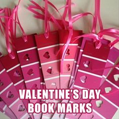 a valentine's day craft ideas (Oh, I can see all the red paint samples flying out of the paint departments,  lol!)
