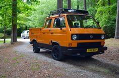 Rare for Over Here: 1984 Volkswagen Transporter DOKA Pickup Volkswagen 181, T3 Vw, Volkswagen Models, Transporter T3, Volkswagen Transporter, Vw Vanagon, Adventure Car, Vw Camper, Campers