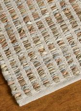 Hand Woven Recycled Leather & Cotton Rug