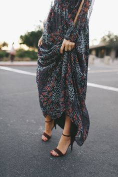 DRESS  ||  HEELS  ||  NECKLACE  ||  BAG  ||  NUDE CAMI     I've never been much of a maxi dress kind of girl. ...