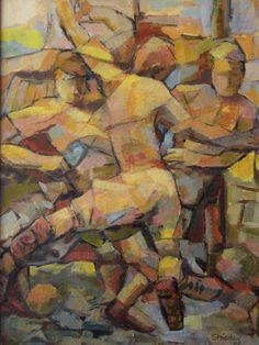 Football Player by Alfons Niex Soccer Players, Cubism, Artist Painting, The Ordinary, Fine Art America, Abstract Art, Design Inspiration, Wall Art, All Print