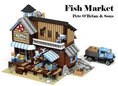 Fish Market. More pics at Archbrick.com #lego #legobuilding #legobuild #legostagram #legoarchitecture