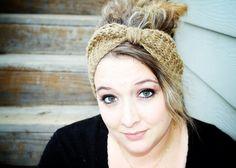 Fairy Tale Winter Headband in Camel Heather