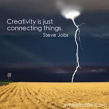 'Creativity is just connecting things' - Steve Jobs #creativity #create #creative #quote #stevejobs