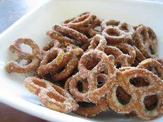 Ranch Pretzels. Add oil, ranch powder and garlic powder to pretzels. Bake for a few min and serve.