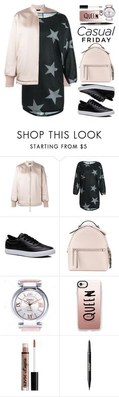 """Casual"" by beebeely-look ❤ liked on Polyvore featuring T By Alexander Wang, Fendi, Casetify, NYX, tarte, casual, casualfriday, schoolstyle, under100 and twinkledeals"