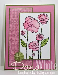 Flower Garden Card - image from Stamping Bella