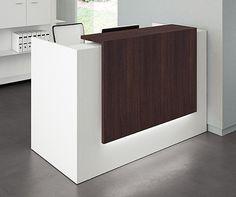 die empfangstheke rave ist auch mit schwarzer thekenplatte ein blickfang durch die. Black Bedroom Furniture Sets. Home Design Ideas