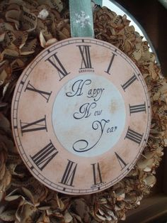 New years decor - clock
