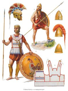 spartan soldier and other greek hoplite