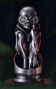 H,R,Giger-aluminium-sculpture