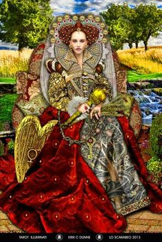 The Empress - this is the card I am most drawn to from the Tarot Illuminati deck