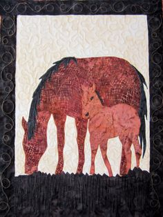 First of all I have to say that I love this quilt and was so excited when my client brought it to me. I can not imagine the time that . Bring It To Me, Applique Quilts, Moose Art, Horses, Quilting, Blanket, Sewing, Crafts, Animals