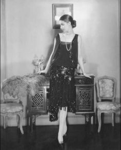 1926 Coco Chanel's 'Little Black Dress' modeled by Marion Morehouse.