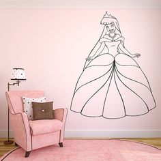 Wall Room Decor Art Vinyl Sticker Mural Decal Pattern Poster Sweet Pretty Interior Nursery Girl Kids Pictures Crown Princess Queen New F2146