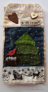 Scrap,quilt and stitch: Etiquettes de l'avent (3)