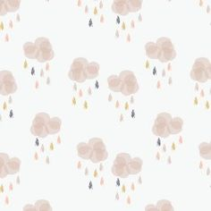 Rain Clouds in dusty pink and white from the Autumn Rain collection by Dashwood Studio. The fabric is a good medium weight cotton with a smooth finish, perfect for quilting and craft projects. Fabric Design, Pattern Design, Cloud Fabric, Baby Patchwork Quilt, Quilting Fabric, Autumn Rain, Rain Collection, Buy Fabric Online, Dressmaking Fabric