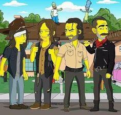 The Walking Dead, Walking Dead Jokes, Walking Dead Season, Simpsons Drawings, Simpsons Art, Walking Dead Wallpaper, Twd Memes, Simpsons Characters, Fandom Memes
