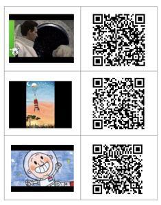 QR -codes thema De ruimte Robot Monster, Qr Codes, Coding, School, Space, Projects, Astronauts, Planets, Programming