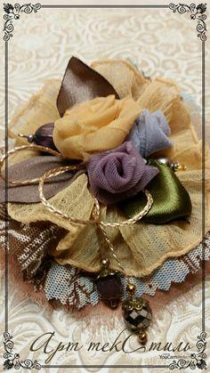 Текстильная брошка