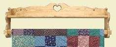"""Quilt Hangers With Shelves @ Robinsons Woodcrafts - up to 104"""" long"""