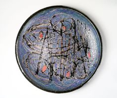 J.T. Abernathy. Charger, 1963. Glazed earthenware, diameter: 25 1/2 in. Brooklyn Museum, H. Randolph Lever Fund, 1994.109.2. Creative Commons-BY-NC (Photo: Brooklyn Museum, 1994.109.2_transp553.jpg)