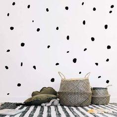 Polka Dot Stencil Bubble Background Shabby Wall Art Random Round Circle Shapes