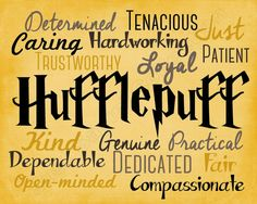 Harry Potter Hufflepuff Traits Print Harry by JustSayinCollection