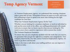 Temporary Employment Agency Burlington - VERMONT EMPLOYMENT