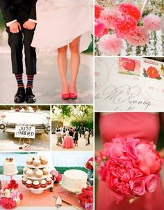 Bright #Pink #Wedding theme via @Capelio (Best Wedding  Engagement rings at www.brilliance.com)