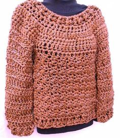 Chunky Crochet Sweater (paid pattern). Very easy and cute.
