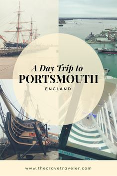Taking a day trip from London to Portsmouth and the historic dockyard is so easy. Find out how and what else you can explore in the Royal Navy's first and largest port. Portsmouth Dockyard, Portsmouth New Hampshire, Portsmouth United Kingdom, Day Trips From London, Living In England, Au Pair, Gap Year, Weekend Trips, London Travel