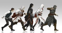 Evolution of Ezio by *doubleleaf on deviantART