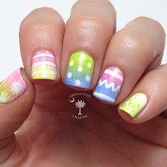 lowcountrylacquer easter #nail #nails #nailart