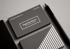 M.M. [business cards] by pajka studio , via Behance
